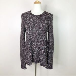 Madewell l Pullover Sweater Gray Wine Wool Blend S